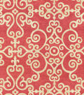 P/K Lifestyles Upholstery 8x8 Fabric Swatch-Tendril/Berry