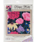 Design Works 12\u0027\u0027x12\u0027\u0027 Stitched in Yarn Needlepoint Kit-Midnight Floral