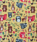 Anti-Pill Plush Fleece-Baby Woodland Animals