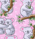 Snuggle Flannel Fabric 42\u0027\u0027-Loving Koalas