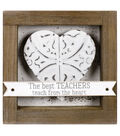 Stained Wood Box Sign-The Best Teachers Teach from the Heart