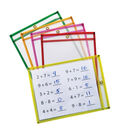 Creativity Street Dry Erase Pockets, Neon, 9\u0022x12\u0022, 10 Per Pack, 2 Packs
