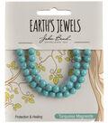 Earth\u0027s Jewels Semi-Precious Round 6mm Beads-Turquoise Magnesite
