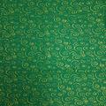 Christmas Cotton Fabric-Glitter Scrolls Green