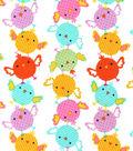 Snuggle Flannel Fabric-Chicks Multi Color