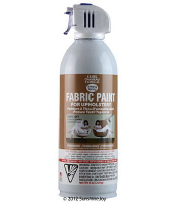 Upholstery Spray Fabric Paint 8oz-Camel