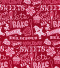 Christmas Snuggle Flannel Fabric -Cookie Baking