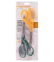 """Fiskars Premier 8"""" Bent Designer Scissors 2pk-Fall Floral-Dark Yellow, , hi-res"""
