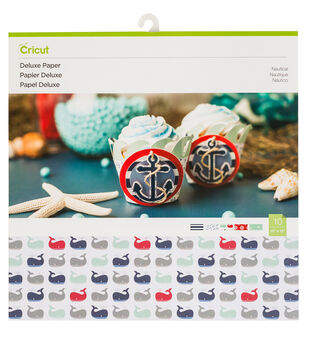 Cricut 10 pk 12''x12'' Deluxe Paper-Nautical