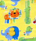 Snuggle Flannel Fabric -Zoo Animals