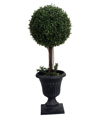 Bloom Room 24'' Soft Touch Boxwood Topiary-Green