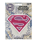 DC Comics Patch-Pink Sparkle Supergirl Logo