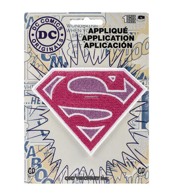 DC Comics Patch-Pink Sparkle Supergirl Logo