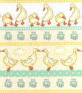 Nursery Flannel Fabric -Ducks In Line