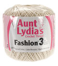 Aunt Lydia\u0027s Fashion Crochet Thread Size 3-Bridal White Multipack of 12
