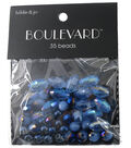 hildie & jo Boulevard 35 Pack Mixed Multi Sizes Glass Beads-Blue