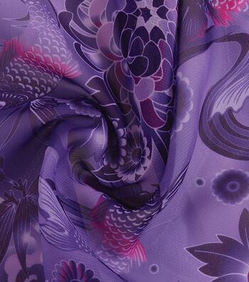 Yaya Han Cosplay Chiffon Fabric 59''-Purple Koi