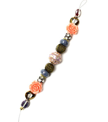 "Jesse James 7"" Strung Beads-Slavic Acrylic Rose Beads"
