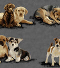 Snuggle Flannel Fabric -Photo Real Pups