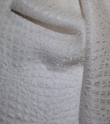 Gianna Silk Blend Solid Pebble Jacquard Fabric 52''