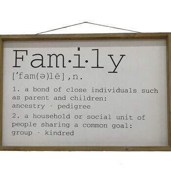 Simply Autumn Wall Decor-Family Definition