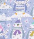 Christmas Anti-Pill Plush Fleece Fabric-Artic Penguins