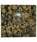Park Lane 12\u0027\u0027x12\u0027\u0027 Scrapbook Album-Gold Floral on Black