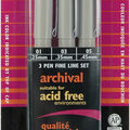 Pigma Micron Pens Assorted 3/Pkg-Black