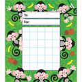 Monkey Mischief Incentive Pad, 36 Per Pack, 6 Packs