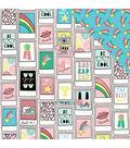 My Mind\u0027s Eye Good Vibes 12\u0027\u0027x12\u0027\u0027 Foiled Cardstock-Pink Polaroid