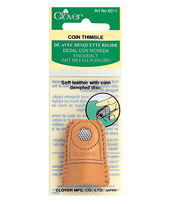 Clover Leather Coin Thimble, , hi-res
