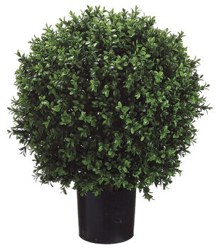 Bloom Room Luxe 23'' Ball-Shaped Boxwood Topiary-Green