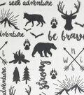 Soft & Comfy Fleece Fabric-Wilderness Maps