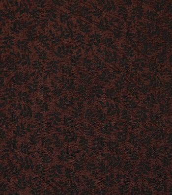 Harvest Cotton Fabric-Mini Autumn Leaves on Brown