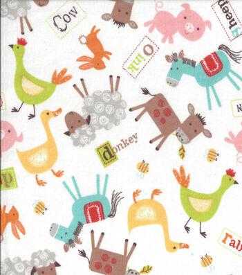 Nursery Flannel Fabric -Farmer