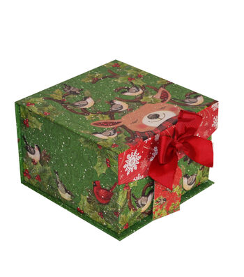 Maker's Holiday Christmas Small Mini Fliptop Storage Box-Reindeer