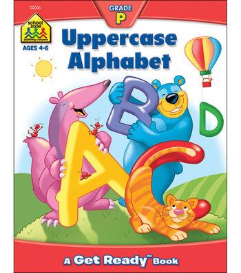 School Zone Preschool Workbooks 32 Pages-Uppercase Alphabet