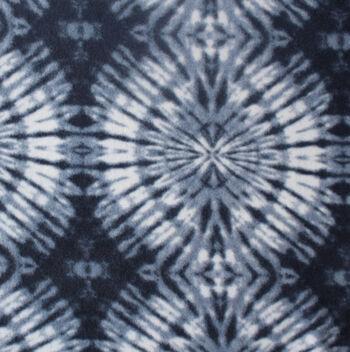 Anti-Pill Fleece Fabric 59''-Navy & White Tonal Tie Dye