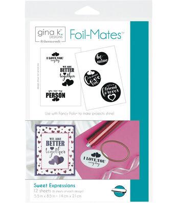 Gina K. Designs 5.5''x8.5'' Sentiments Foil-Mates-Sweet Expressions