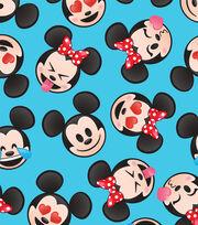 Disney Mickey & Minnie Fleece Fabric-Emoji Faces, , hi-res