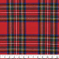 Plaiditudes Brushed Cotton Fabric-Red & Multi Tartan Plaid