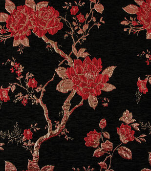 Yaya Han Collection Velvet Floral Brocade-Red