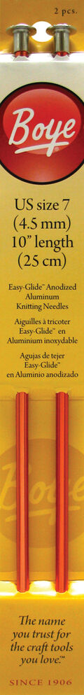 Single Point Aluminum Knitting Needles 10\u0022-Size 7/4.5mm