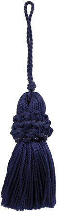 Ss 2in Navy Rouched Tassel