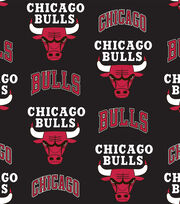 Chicago Bulls Fleece Fabric -Tossed, , hi-res