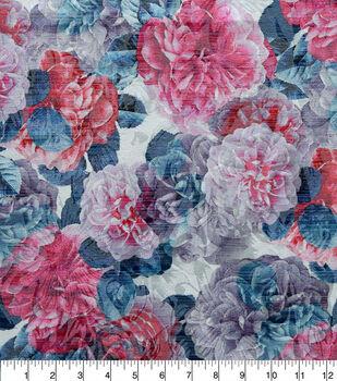 Sew Sweet Printed Floral Brocade Fabric