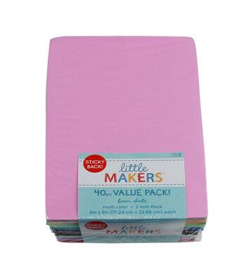 Sticky Back 6x9'' Foam Sheet Value Pack-40Pc