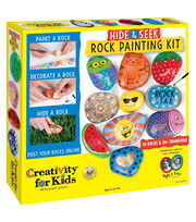 Creativity for Kids Hide & Seek Rock Painting Kit, , hi-res