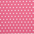 Tutti Fruitti Embossed Fabric -Polka Dot Fuchsia and White