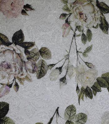 "Gianna Silk Blend Double Jacquard Print Fabric 53""-Eggnog Rose"